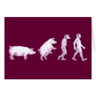 Tarjeta Evolución de hombres