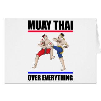 Tarjeta Excesivo tailandés de Muay todo