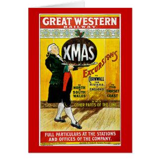 Tarjeta Excursiones ferroviarias de Navidad de Great