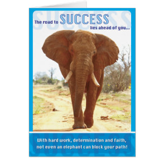 Tarjeta Éxito del elefante