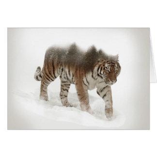 Tarjeta Exposición-fauna tigre-Tigre-doble siberiana