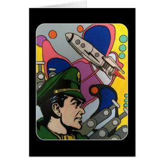 Tarjeta Extracto atómico la pintura del capitán de Rocket