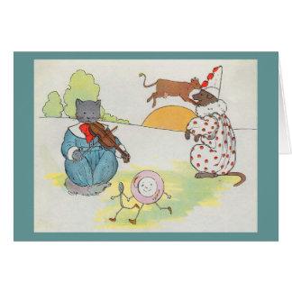Tarjeta ¡Ey, diddle, diddle!  El gato y el violín