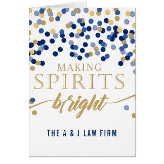 Tarjeta Fabricación del día de fiesta de Spirits Bright