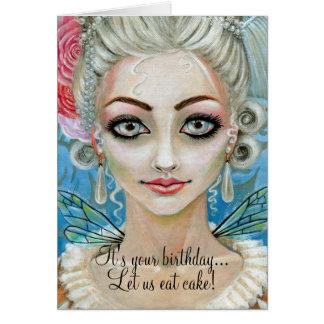 Tarjeta Faerie de Marie Antonieta, es su cumpleaños… …