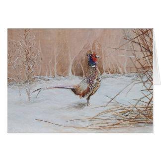 Tarjeta Faisán en la nieve