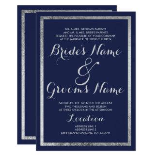 Tarjeta Falsa bodas de plata de los azules marinos
