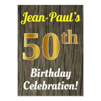 Tarjeta Falsa madera, 50.a celebración del cumpleaños del