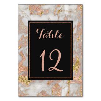Tarjeta Falso número color de rosa moderno de la tabla del