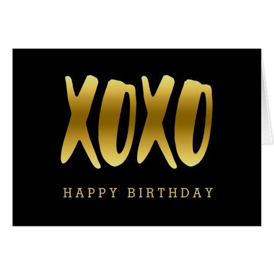 Tarjeta Falso saludo del negro del feliz cumpleaños del