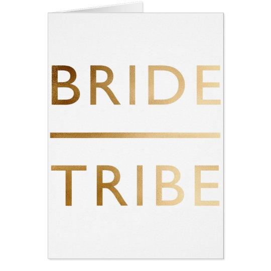 Tarjeta falso texto del oro de la tribu elegante