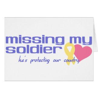 Tarjeta Falta de mi soldado