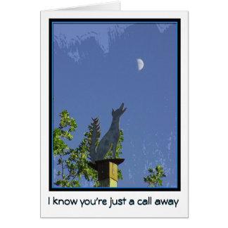 Tarjeta Falta de usted--Apenas una llamada ausente--Coyote