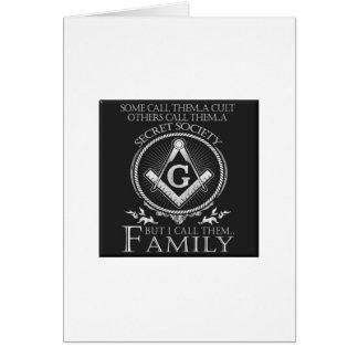 Tarjeta Familia de los albañiles