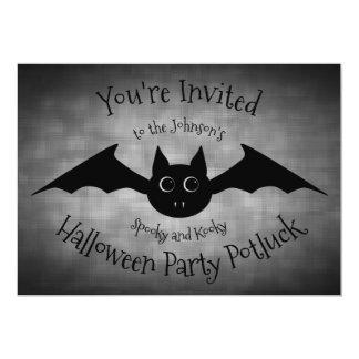 Tarjeta Familia del fiesta del potluck de Halloween