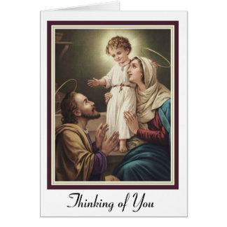 Tarjeta Familia santa San José, Maria, Jesús