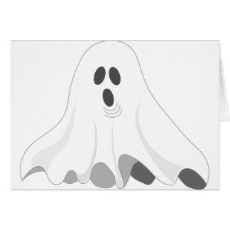 Tarjeta ¡Fantasma de Halloween - ABUCHEO!