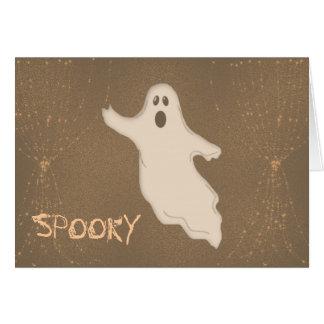 Tarjeta fantasmagórica del fantasma de Halloween