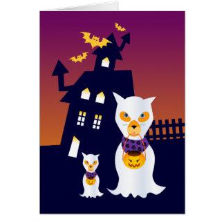 Tarjeta Fantasmas del perro de la casa encantada y de
