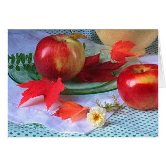 Tarjeta ¡FARMphemera!  Manzanas y antigüedades 2017: