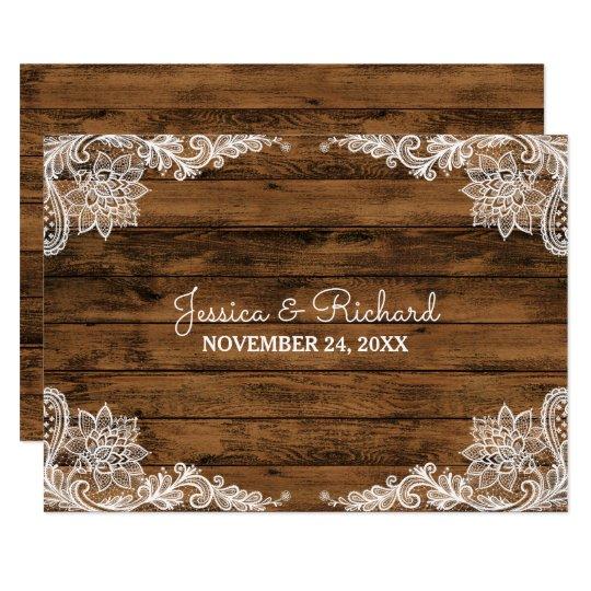 Tarjeta Favor rústico de madera del granero y del boda del