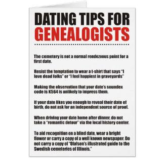 Tarjeta Fechar las extremidades para los Genealogists
