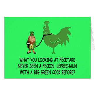 Tarjeta Fecktard del día de St Patrick feliz