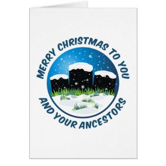 Tarjeta Felices Navidad a usted y a sus antepasados