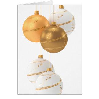 Tarjeta Felices Navidad, bolas del navidad