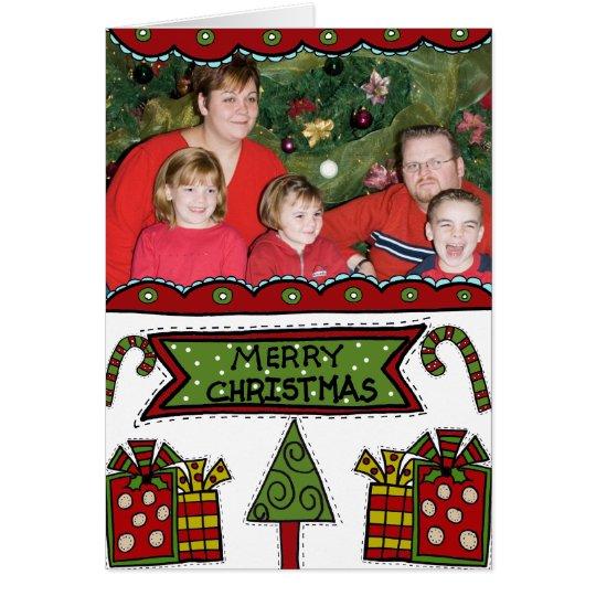 Tarjeta Felices Navidad caprichosas