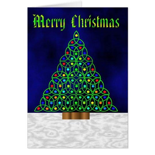 Tarjeta Felices Navidad célticas