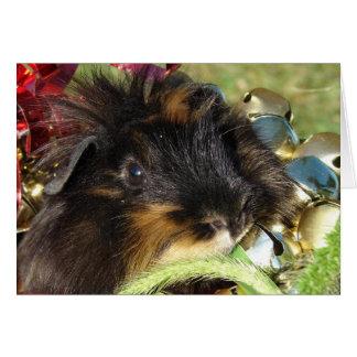Tarjeta ¡Felices Navidad!  Conejillo de Indias