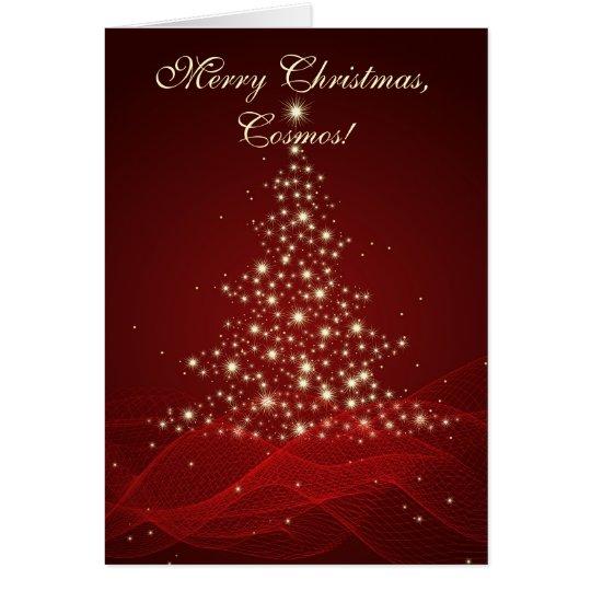 Tarjeta ¡Felices Navidad, cosmos!