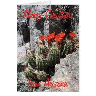 Tarjeta Felices Navidad de Arizona