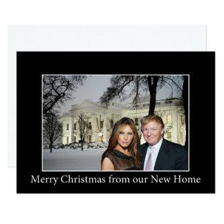 Tarjeta Felices Navidad de Donald y de Melania