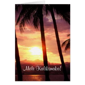 Tarjeta Felices Navidad de Hawaii Mele Kalikmaka