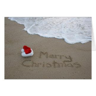 Tarjeta Felices Navidad de la playa