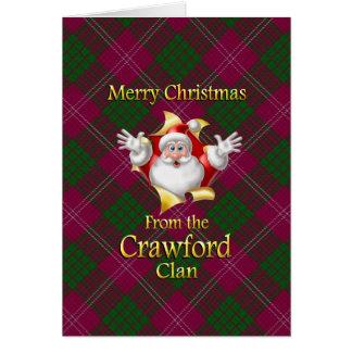 Tarjeta Felices Navidad del clan de Crawford