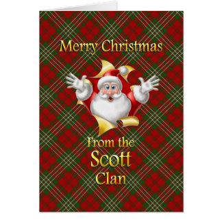 Tarjeta Felices Navidad del clan de Scott