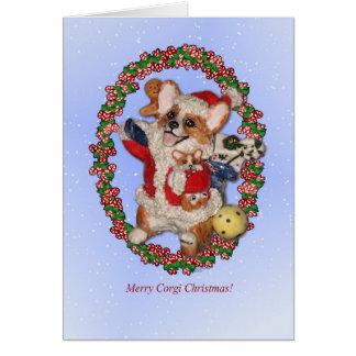 Tarjeta ¡Felices Navidad del Corgi!