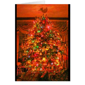 Tarjeta ¡Felices Navidad del feliz cumpleaños!