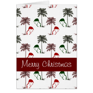 Tarjeta Felices Navidad del modelo de la palmera del