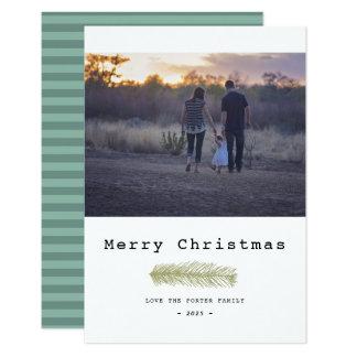 Tarjeta Felices Navidad del pino moderno