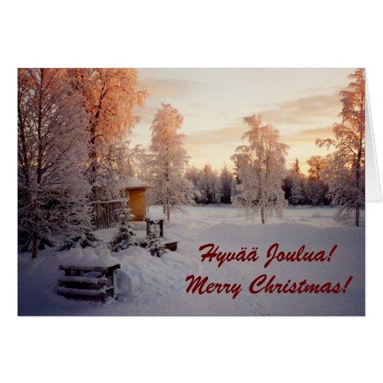 Tarjeta ¡Felices Navidad! ¡Hyvää Joulua!