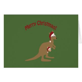 Tarjeta Felices Navidad KangaROOS