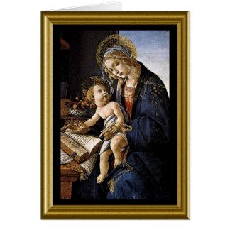 Tarjeta Felices Navidad - Madonna y niño