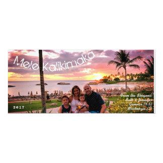 Tarjeta Felices Navidad Mele Kalikimaka de Hawaii