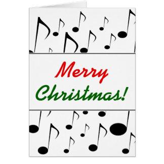 """Tarjeta """"Felices Navidad!"""" + Modelo de muchas notas"""
