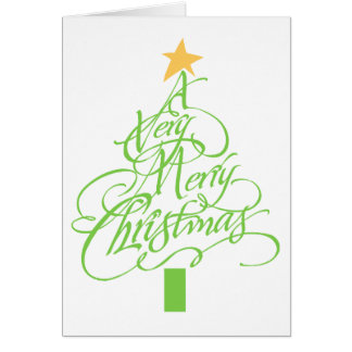 Tarjeta Felices Navidad muy
