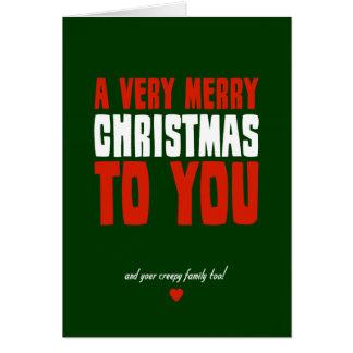 Tarjeta Felices Navidad muy a usted